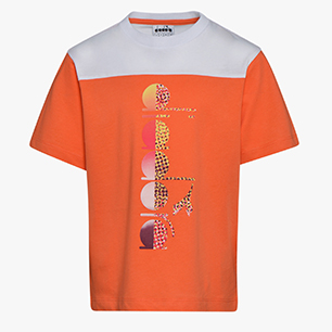 JB. T-SHIRT SS DIADORA CLUB, ORANGE NASTURTIUM, medium