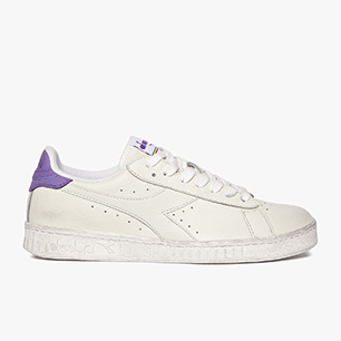 GAME L LOW WAXED, WHITE/LIGHT VIOLET, medium