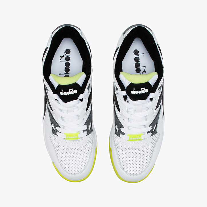 REBOUND ACE, WHITE/BLACK/LIME PUNCH, large