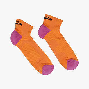 CUSHION QUARTER SOCKS, FALL ORANGE, medium