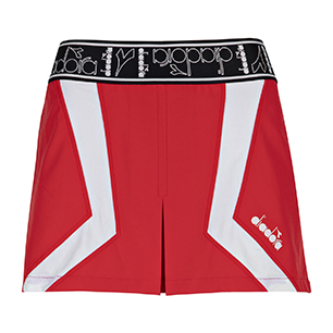 L. SKORT, LIVELY HIBISCUS RED, medium