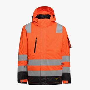 HV JACKET ISO 20471, FLURESCENT ORANGE, medium