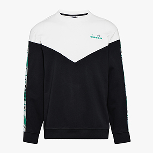 SWEATSHIRT CREW 5PALLE OFFSIDE V, BLACK, medium