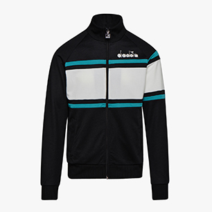 JACKET 80S, BLACK/ACQUA GREEN/WHITE MILK, medium