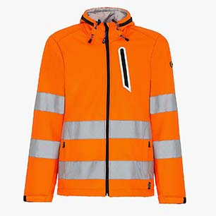 SOFTSHELL HV ISO 20471:2013 3RD CAT., ORANGE FLUORESCENT, medium