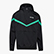 HOODIE JACKET 1/2 ZIP OFFSIDE, BLACK, swatch