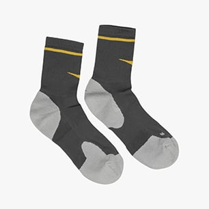 SOCKS, GRAY QUIET SHADE/SAFFRON, medium