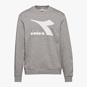 SWEATSHIRT CREW LOGO CHROMIA, GRIGIO MELANGE MEDIO, medium