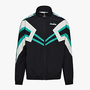 TRACK JACKET MVB, BLACK/HOLLY GREEN, medium