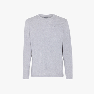 LS T-SHIRT JS, LIGHT MIDDLE GREY MELANGE, medium