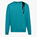 SWEATSHIRT CREW ICON, ACQUA GREEN, swatch