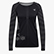 L. LS TECHFIT T-SHIRT, BLACK, swatch