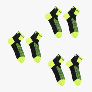 PRE PACK 3 SOCKS RACE, FLUO YELLOW DD, medium