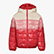 JU.HOODIE PADDED JACKET, GERANIUM RED, swatch
