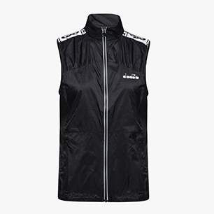 L. LIGHTWEIGHT VEST, BLACK, medium