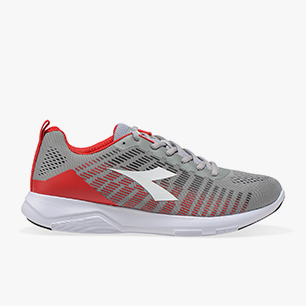 X RUN 3, GRAY/RED, medium