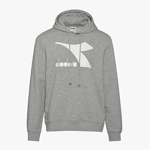 HOODIE SWEAT LOGO CHROMIA, LIGHT MIDDLE GREY MELANGE , medium