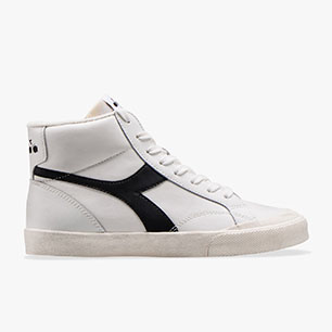 MELODY MID LEATHER DIRTY, WHITE /BLACK, medium