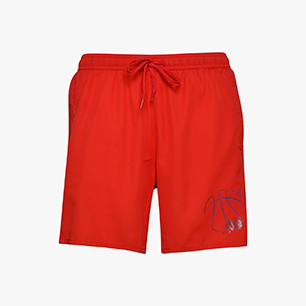 BEACH SHORT TWEENER, DARK RED, medium