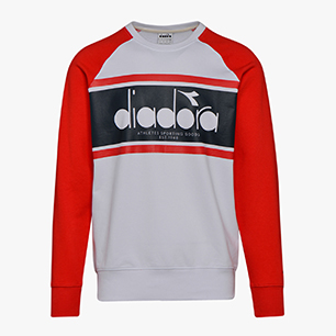 SWEATSHIRT CREW SPECTRA, IVORY WHITE/TOMATIO RED/ESTATE, medium