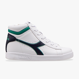 GAME P HIGH GS, WHITE/GREENLAKE, medium