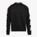 SWEATSHIRT CREW ONE, SCHWARZ, swatch