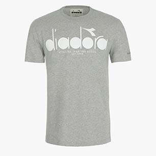 T-SHIRT SS BL, LIGHT MIDDLE GREY MELANGE, medium