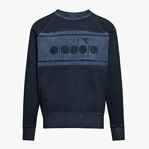 SWEATSHIRT CREW SPECTRA USED, DENIM BLUE, medium
