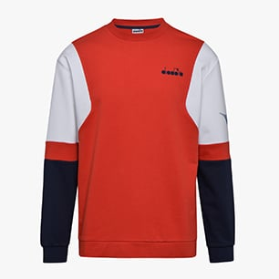 SWEATSHIRT CREW DIADORA CLUB, MOLTEN LAVA RED, medium