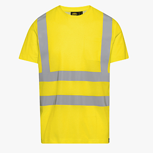 T-SHIRT HV ISO 20471, AMARILLO FLUORESCENTE, medium