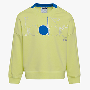 JG. SWEATSHIRT CREW LOGO MANIA, GREEN SUNNY LIME, medium