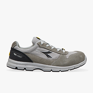RUN II TEXT ESD LOW S1P SRC ESD, GRIS CLARO/ALUMINIO, medium