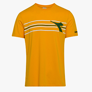 SS T-SHIRT FREGIO, ORANGE MUSTARD, medium