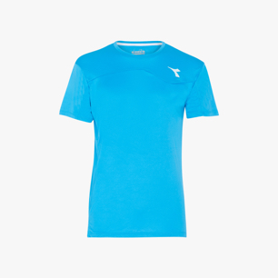 T-SHIRT TEAM, BLEU FLUORESCENT, medium
