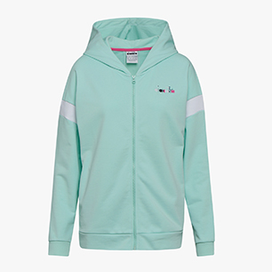 L. HOODIE FZ SPOTLIGHT, GREEN HONEYDEW, medium