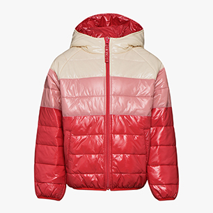 JU.HOODIE PADDED JACKET, GERANIUM RED, medium