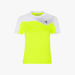J. T-SHIRT COURT, FLUO YELLOW DD, medium