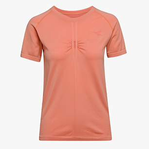 L. SS TECHFIT T-SHIRT, PINK PEACH, medium