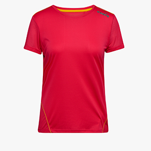 L. X-RUN SS T-SHIRT, RED VIRTUAL PINK, medium