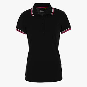L.POLO SS PQ, BLACK, medium