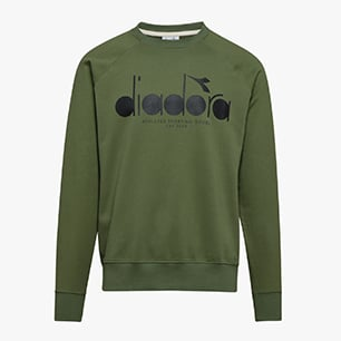 SWEATSHIRT CREW 5PALLE, GREEN MUSHROOM, medium