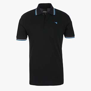 POLO PQ, NEGRO, medium