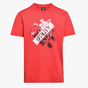 T-SHIRT GRAPHIC ORGANIC, TRUE RED, medium
