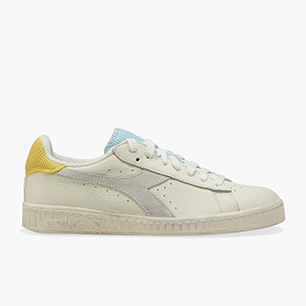 GAME L LOW ICONA WN, WHITE/GOLDFINCH/BLUE TINT, medium