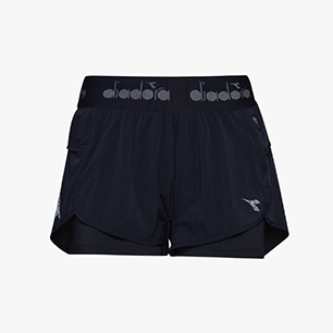L. DOUBLE LAYER SHORTS, BLACK, medium