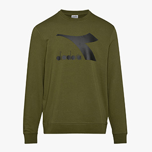 SWEATSHIRT CREW LOGO CHROMIA, WINTER MOSS, medium