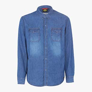 SHIRT DENIM, NEW BLUE WASHING, medium