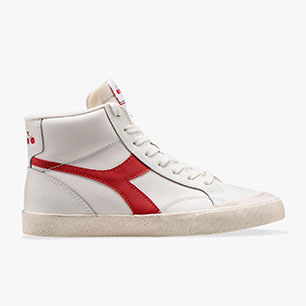 MELODY MID LEATHER DIRTY, WHITE/TANGO RED, medium
