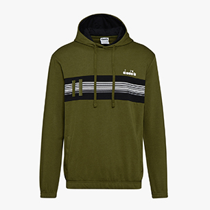 HOODIE SWEAT BLKBAR, WINTER MOSS, medium