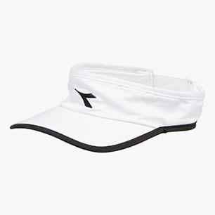 VISOR, WHITE /BLACK, medium